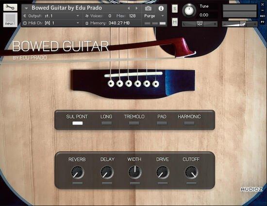 دانلود رایگان وی اس تی گیتار اکوستیک آرشه ای Edu Prado Sounds Bowed Guitar KONTAKT