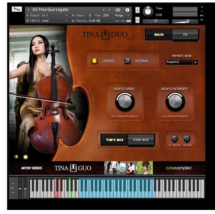 دانلود نسخه جدید وی اس تی تینا Cinesamples Tina Guo Acoustic Cello Legato v1.3.0 KONTAKT